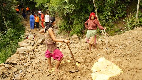 3.與在地村民一起在森林工作