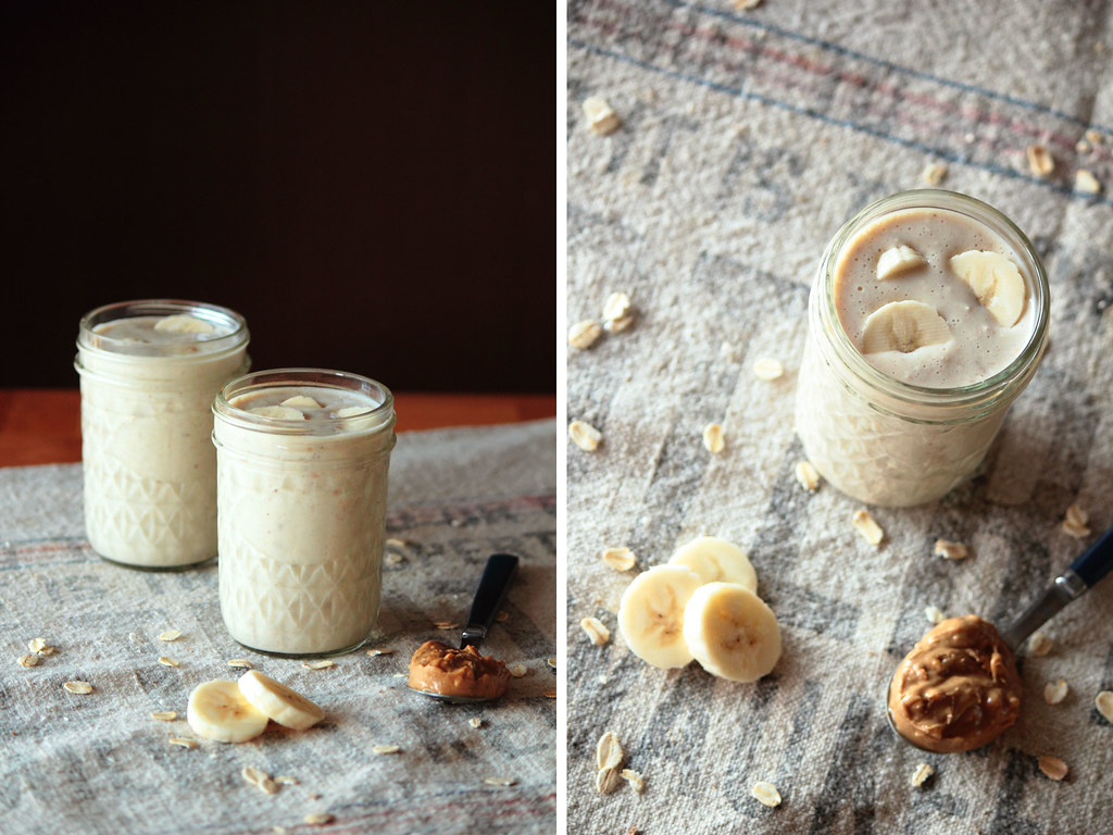 Banana Peanut Butter Protein Smoothie