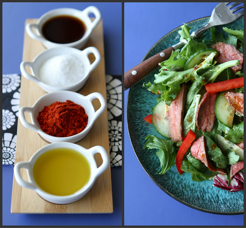 Grilled Flank Steak Salad with Smoked Paprika Dressing Recipe