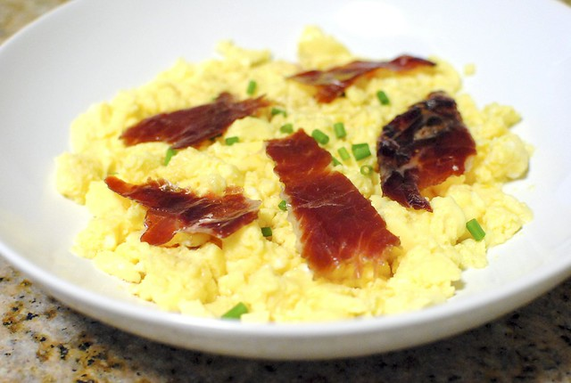 sous vide scrambled eggs, jamon iberico | Flickr - Photo Sharing!