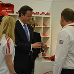 David Cameron: The PM inspects Team GB kit