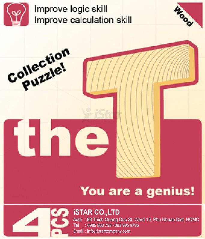 Trò chơi xếp hình chữ T (The T) – Giúp phát triển trí thông minh vượt trội