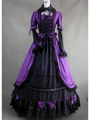 long sleeves gothic victorian dress