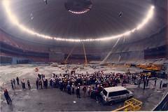 Engineer meeting, Kingdome roof repair, 1994