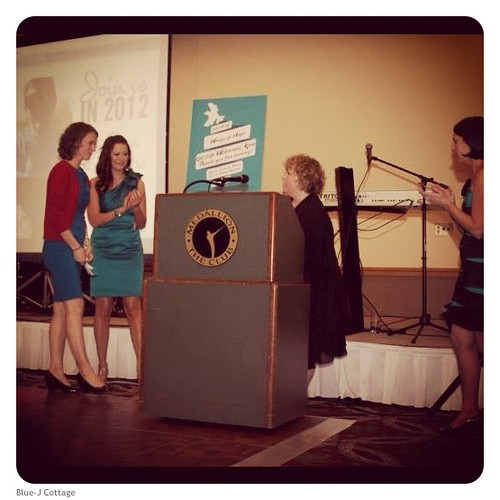 Receiving the OCAO Teal Spotlight Award