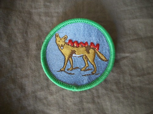 Flaming Dingo Patrol Patch