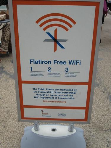 Free WiFi, NYC. Nueva York