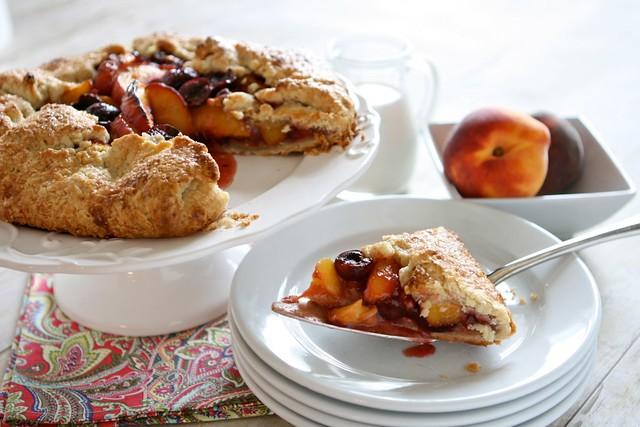 Peach Cherry Galette 005