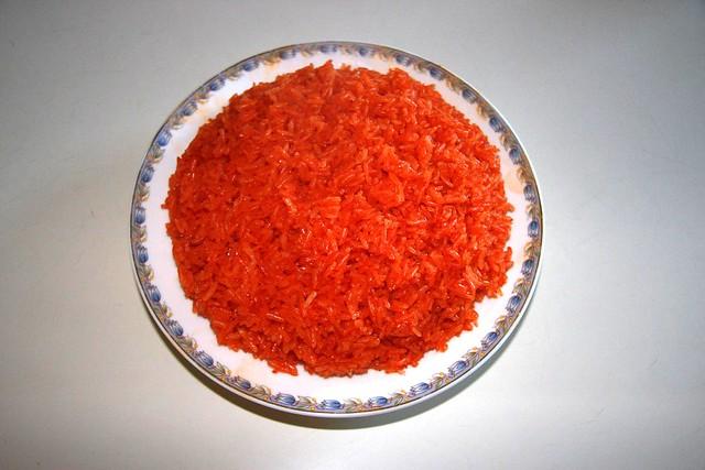Sweet rice with Gac fruit