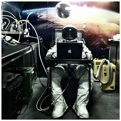 #redbull #stratos #pilot @FelixBaumgartner prepares to the second manned test flight in #roswell by @balazsgardi for #redbullstratos