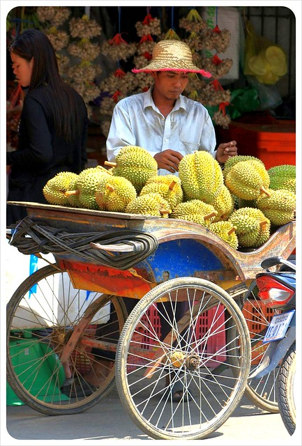 durian seller battambang