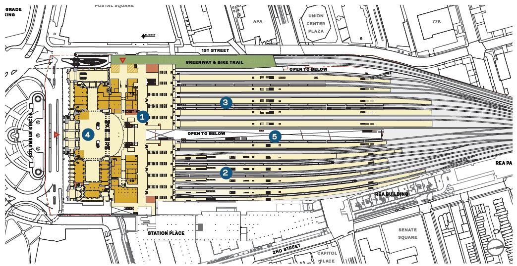 Union Station Air Rights Development Plan Unveiled Neighborhood - Chicago union station map