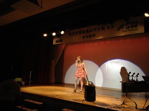 SWCNイベントの懇親会 兼 全日本製造業コマ大戦G3信州場所で、女性シンガーのAOIさんのゲリラライブ!