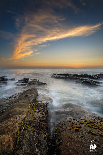 light sunset seascape color water clouds oregon rocks shore acres