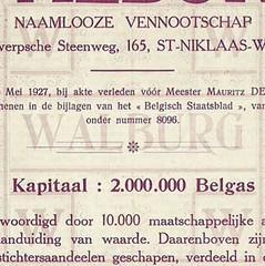 Belgas stock certificate