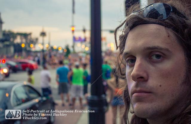 Lollapalooza Evacuation (self-portrait)