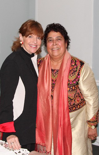 Susan Davis with Razia Jan