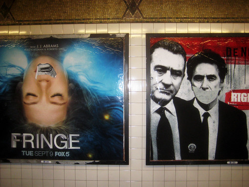 Fringe TV Show Subway Poster with Collaged Mouth 7670