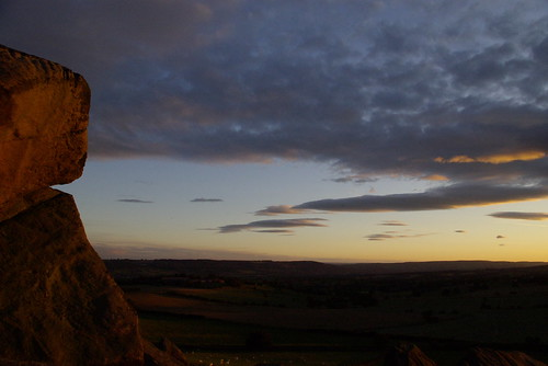 Great Almscliff Crag sunset