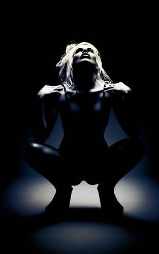 [フリー画像素材] 人物, 女性, モノクロ, アメリカ人 ID:201208152200