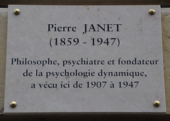 Photo of Pierre Janet white plaque
