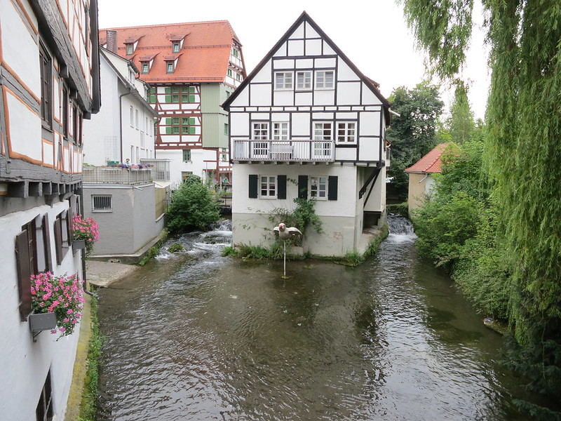 Der Grosser Blau, one of the small streams which flows through Ulm and into the Donau