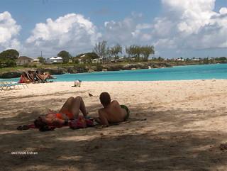 couple on Miami Beach, Barbados