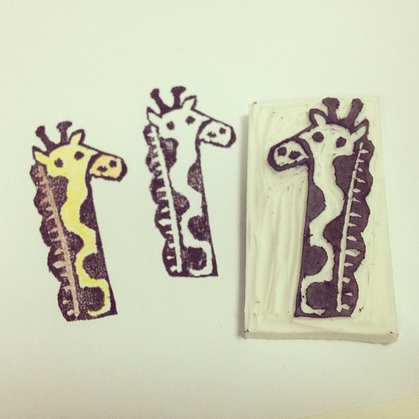 Eraser stamp: giraffe