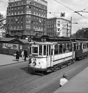 Tram in Hamburg in 1950