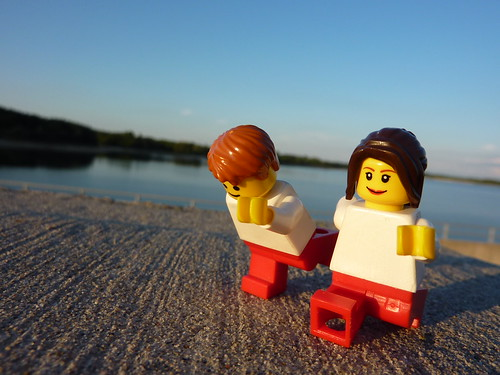 Legopractic yoga at Guelph Lake by Dr. Mark Kubert
