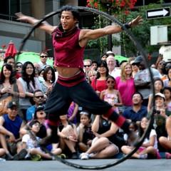 Pancho Libre and his Giant Hula Hoop