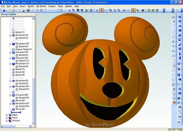 Mickey Mouse Jack-o-lantern Ver3 Modeling By SilverReon