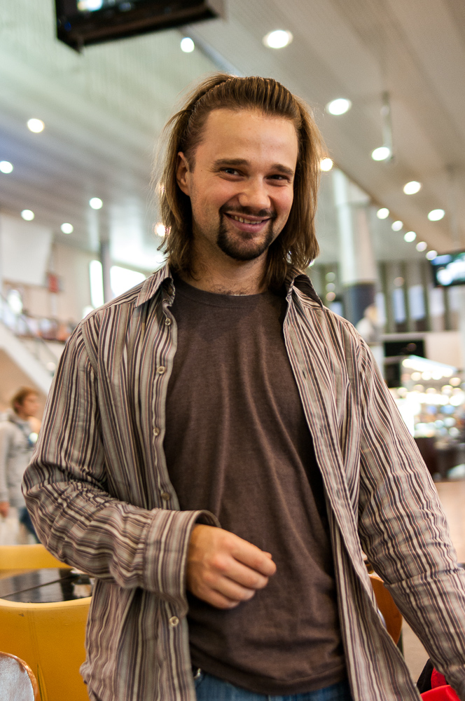 Anton in the airport