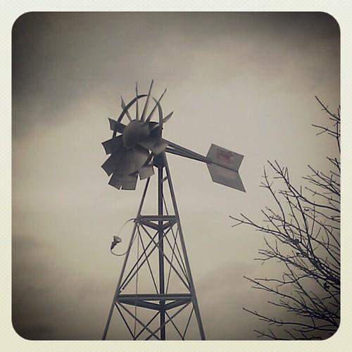 Windmill near southwest of Bondurant, IA.