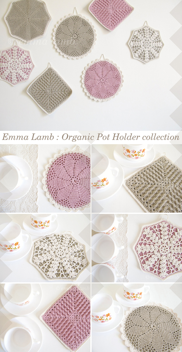 Emma Lamb : Organic Pot Holder collection.