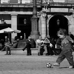 "K_Buoscio_futbol_small -- Fall 2009 Winner ""A Young Boy Finds Joy"" Katy Buoscio (IWU Madrid)."