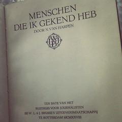 boeken van de gratis-meeneem-tafel: Menschen die ik gekend heb (1928)