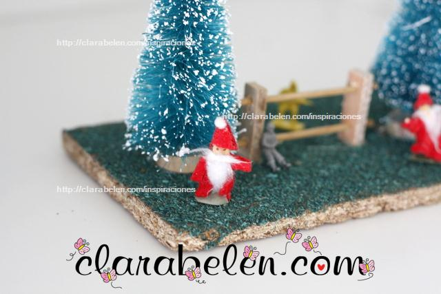 Papá Noel con juguetes reciclados_ soldaditos de guerra
