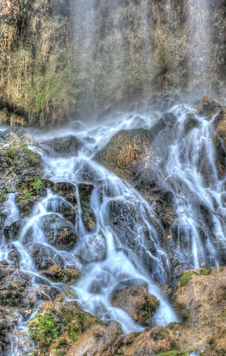 fall water canon waterfall moss falling springs hdr