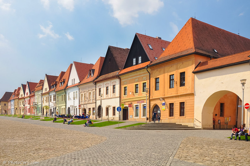 old town in Bardejov, Slovakia
