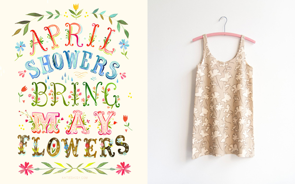 spring things I'm loving right now (April Showers print by The Wheatfield / Plant Life Tank Dress by Leah Goren) | Emma Lamb
