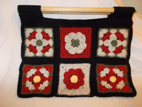 Crocheted knitting bag