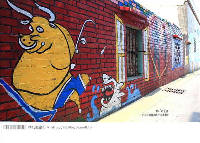 【彰化景點推薦】乳牛彩繪村(福寶村)~數百頭彩色小牛+夢幻藍晒圖的彩色村23