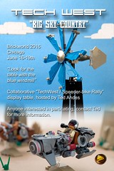 """Brickworld 2016 - """"TechWest"""" Display by ted @ndes"""