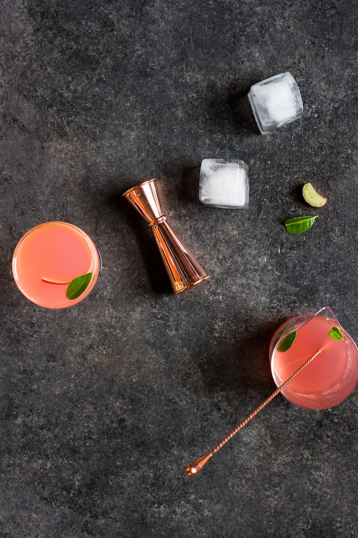 Rhubarb and Gin Gimlet