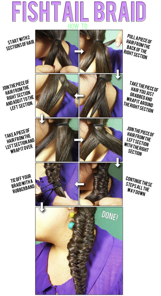 how to fish tail braid - photo #20