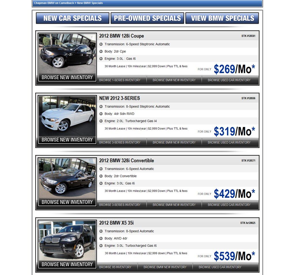 Chapman Bmw On Camelback >> Bmw Lease Specials Chapman Bmw On Camelback In Phoenix