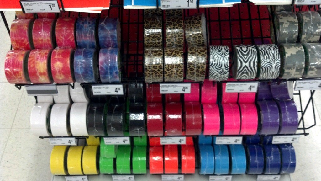 Pretty certain the world is ending because duct tape is an accessory.