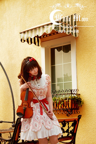 White_moon_one_piece_red_ruffles_lace_lolita_dress_15