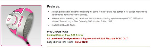 PING Limited Edition Pink G20 Driver